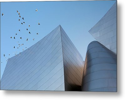 Metal Print featuring the photograph Walt Disney Concert Hall Los Angeles California Architecture Abstract by Ram Vasudev