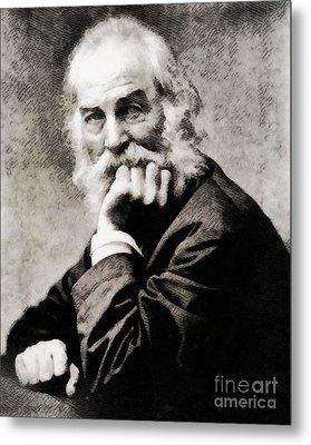 Walt Whitman, Literary Legend Metal Print by John Springfield