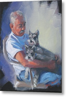 Walter And The Kids Metal Print by Laura Lee Zanghetti