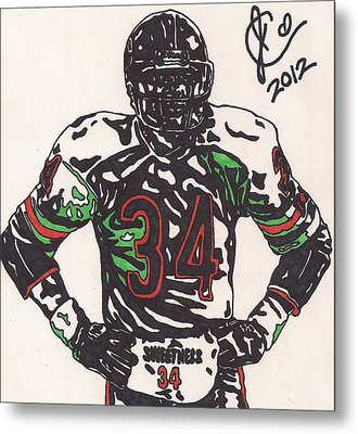 Walter Payton Metal Print by Jeremiah Colley