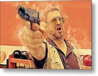 Walter Sobchak - The Big Lebowski Metal Print by Afterdarkness
