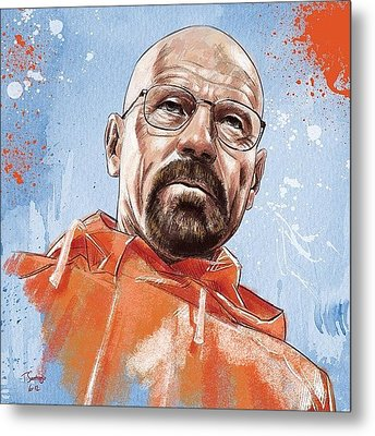 Walter White Metal Print by Tony Santiago