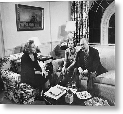 Walters Interviews The Fords Metal Print by Underwood Archives