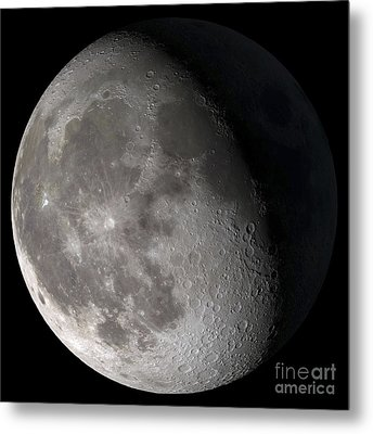 Waning Gibbous Moon Metal Print by Stocktrek Images