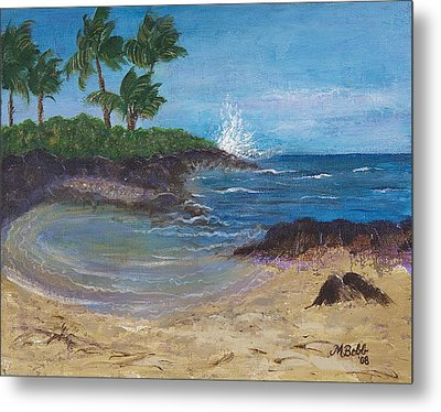 Metal Print featuring the painting Wanna Go by Margaret Bobb