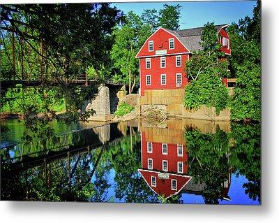 War Eagle Mill And Bridge - Arkansas Metal Print