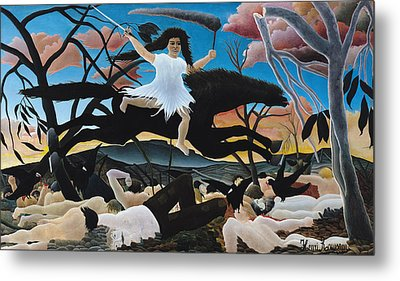 War Metal Print by Henri Rousseau