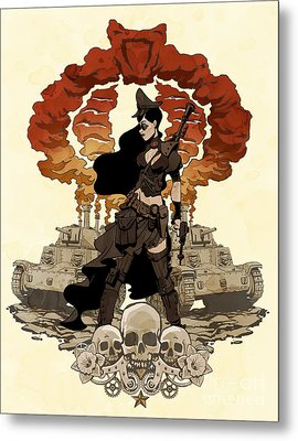 War Maiden Metal Print by Brian Kesinger