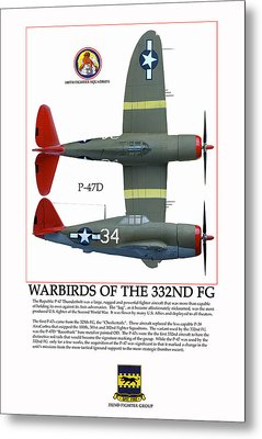 Warbirds Of The 332nd Fg Metal Print