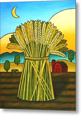Wards Wheat Metal Print by Stacey Neumiller
