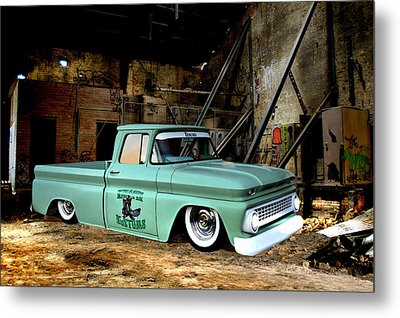 Metal Print featuring the photograph Warehouse Pickup by Steven Agius