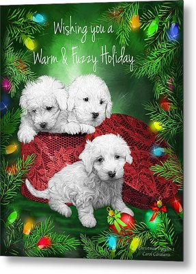 Warm Fuzzy Holiday Metal Print by Carol Cavalaris