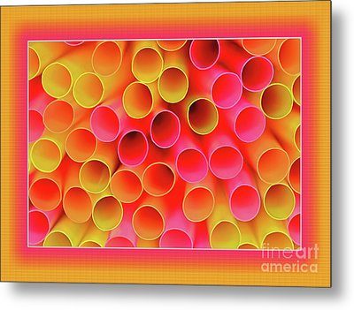 Metal Print featuring the photograph Warm In Neon By Kaye Menner by Kaye Menner