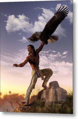 Warrior And Eagle Metal Print
