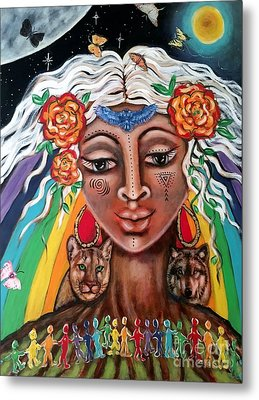Warriors Of The Rainbow Metal Print by Maya Telford