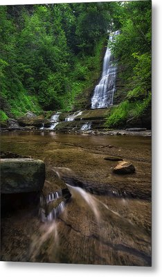 Metal Print featuring the photograph Warsaw Falls 2 by Mark Papke