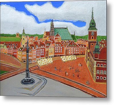 Warsaw- Old Town Metal Print by Magdalena Frohnsdorff