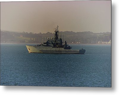 Warship Metal Print by Martin Newman