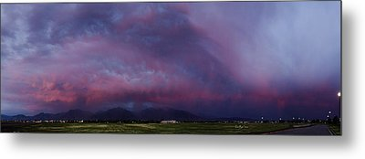 Wasatch Mountain Sunset Metal Print by La Rae  Roberts