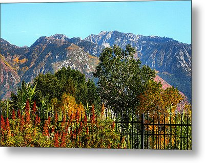 Wasatch Mountains In Autumn Metal Print
