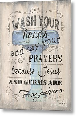 Wash Your Hands Metal Print by Debbie DeWitt