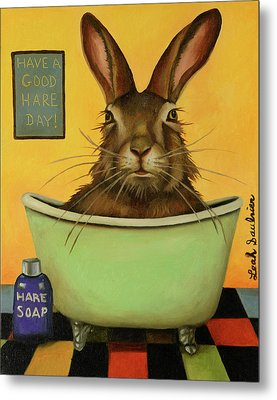 Wash Your Hare Metal Print