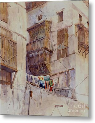 Washday Jeddah Metal Print by Dorothy Boyer