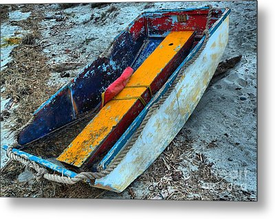 Washed Up Dinghy Metal Print