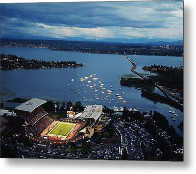 Washington Aerial View Of Husky Stadium Metal Print