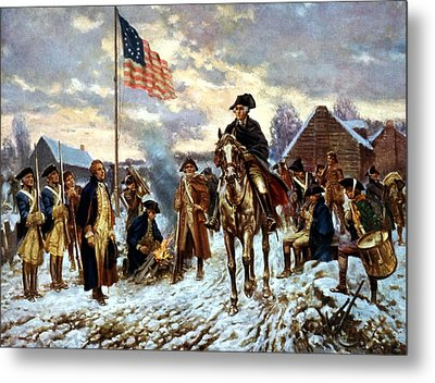 Washington At Valley Forge Metal Print by War Is Hell Store