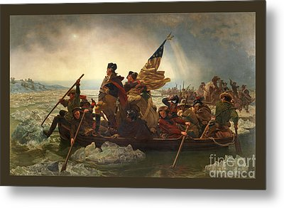 Washington Crossing The Delaware Metal Print by John Stephens