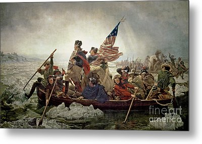 Washington Crossing The Delaware River Metal Print