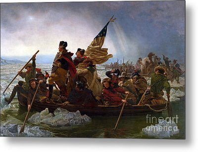 Washington Crossing The Delaware River Metal Print by Emmanuel Gottlieb Leutze