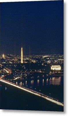 Washington D.c. At Night, Seen Metal Print by Kenneth Garrett
