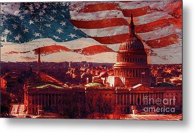 Washington Dc Building 76h Metal Print by Gull G