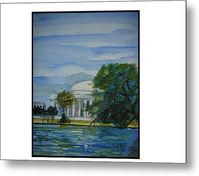 Washington Dc View Metal Print by Angela Puglisi