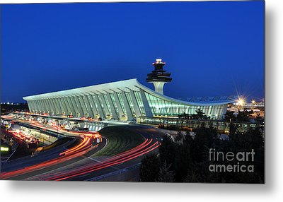 Washington Dulles International Airport At Dusk Metal Print