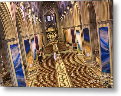 Washington National Cathedral Iv Metal Print by Irene Abdou