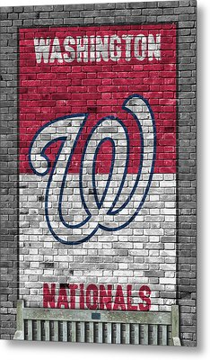Washington Nationals Brick Wall Metal Print by Joe Hamilton
