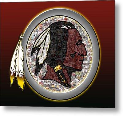 Washington Redskins Metal Print by Fairchild Art Studio