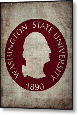 Washington State University Seal Grunge Metal Print by Daniel Hagerman