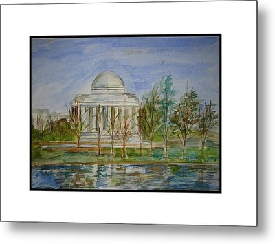 Washington View Metal Print by Angela Puglisi
