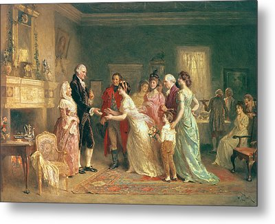 Washingtons Birthday Metal Print by Jean Leon Jerome Ferris