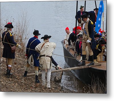 Metal Print featuring the photograph Washington's Crossing 2010--washington Comes Ashore by Steven Richman
