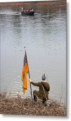 Metal Print featuring the photograph Washington's Crossing-guiding The Boats by Steven Richman