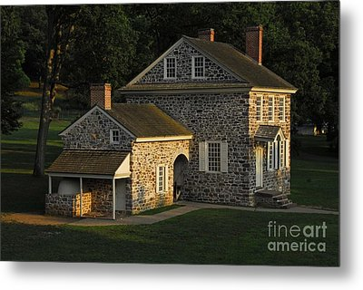 Metal Print featuring the photograph Washington's Headquarters At Valley Forge by Cindy Manero