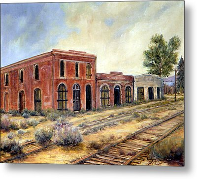 Washoe City Nevada Metal Print by Evelyne Boynton Grierson