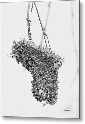 Wasp Nest Heart Metal Print