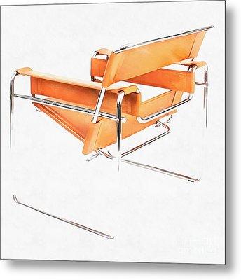 Wassily Chair Mid-century Modern Metal Print by Edward Fielding