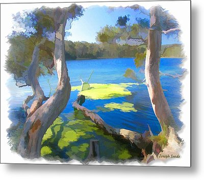 Metal Print featuring the photograph Wat-0002 Avoca Estuary by Digital Oil